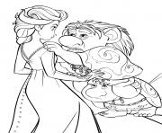 La Reine des neiges 2Elsa et Trolls  dessin à colorier