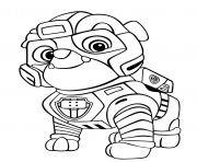 Coloriage Strong Rubble Mighty Pups
