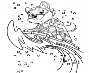 Coloriage Mighty Pups Pat Patrouille Everest