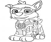 Pat Patrouille Mighty Pups Rockys dessin à colorier