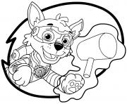 Coloriage Mighty Pups Rocky