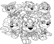 Coloriage Mighty Pups Charged Up