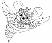 Coloriage Mighty Pups Flying Skye pour enfants