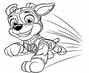 Coloriage Pat Patrouille Mighty Pups Chase