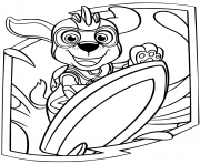 Coloriage Zuma Mighty Pups