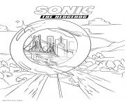 Coloriage sonic 196 dessin