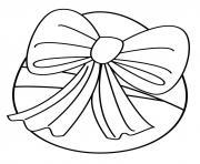 oeuf de paques avec ruban dessin à colorier