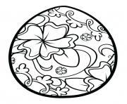 oeufs de paques motif de fleurs dessin à colorier