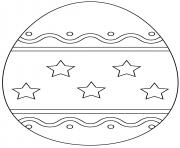 oeuf de paques avec simple pattern dessin à colorier