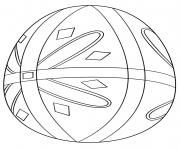 pysanka oeuf de paques dessin à colorier