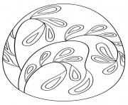 oeuf de paques avec floral pattern dessin à colorier