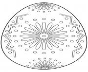 oeuf de paques avec floral ornament dessin à colorier