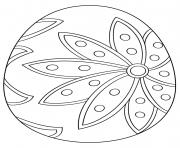fancy oeuf de paques dessin à colorier