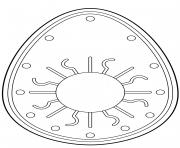 oeuf de paques avec decorative sun dessin à colorier