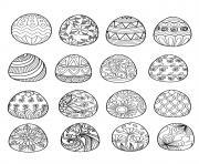 oeufs de paques pour adulte par bimdeedee dessin à colorier