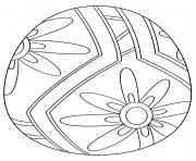 oeuf de paques avec flower pattern 1 dessin à colorier