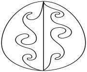 oeuf de paques avec waves pattern dessin à colorier