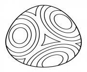 oeuf de paques avec cercle dessin à colorier