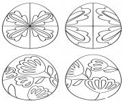 pysanky eggs dessin à colorier