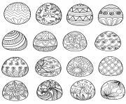oeufs de paques pour adulte 2 par bimdeedee dessin à colorier