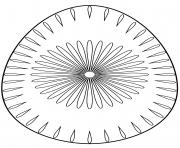 oeuf de paques avec flower pattern 2 dessin à colorier