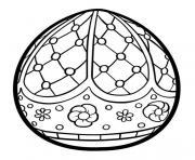 oeuf paques mandala antistress adulte dessin à colorier
