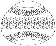 oeuf de paques avec belt pattern dessin à colorier
