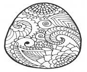 motifs fleurs vegetation tropical oeuf dessin à colorier