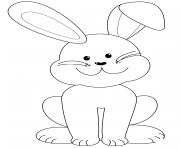 lapin de paques tres sympathique dessin à colorier