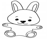 Coloriage lapin de dos dessin