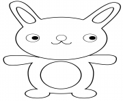 lapin dessin anime cartoon rigolo dessin à colorier