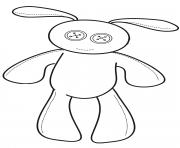 Coloriage lapin kawaii avec de gros yeux dessin