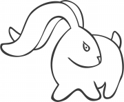 Coloriage petit lapin mignon avec un coeur dessin