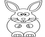un gros lapin qui adore le chocolat dessin à colorier