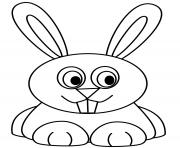 lapin kawaii se repose dessin à colorier