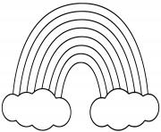 arc en ciel simple dessin à colorier