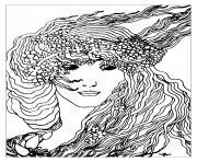 art nouveau dapres climax de aubrey vincent beardsley 1893 dessin à colorier