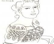difficile matisse dessin blouse roumaine dessin à colorier