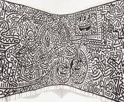 fresque keith haring dessin à colorier