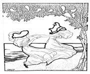 art nouveau dapres lithographie de ludwig von zumbush 1900 dessin à colorier