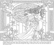 arianrhod deesse celtique dessin à colorier