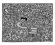 keith haring 1 dessin à colorier