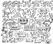 keith haring 7 dessin à colorier