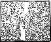 keith haring 3 dessin à colorier