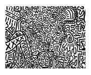 haring dessin à colorier