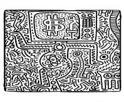 keith haring 10 dessin à colorier