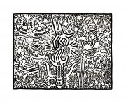 keith haring dessin à colorier