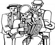 fernand leger les trois musiciens dessin à colorier
