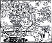 bazille flowers dessin à colorier