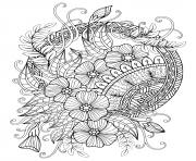 mandala adulte florale nature 2020 dessin à colorier
